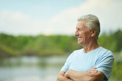 Smiling elderly man Royalty Free Stock Photos