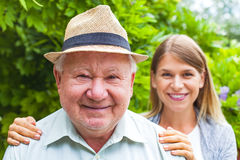 Elderly care outdoor Stock Photography