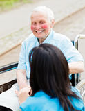 Smiling Elderly Patient Royalty Free Stock Images