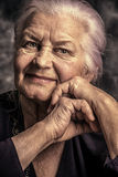 Smiling elderly stock images