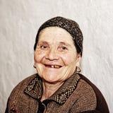 Smiling elderly woman stock image
