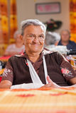 Smiling elderly woman Royalty Free Stock Photos