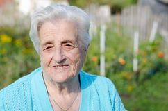Smiling Elderly Woman Stock Photography