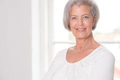 Smiling elderly woman Royalty Free Stock Photo