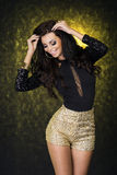 Smiling elegant brunette woman. Stock Images