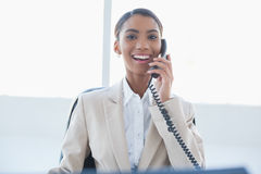 Smiling elegant businesswoman on the phone Royalty Free Stock Photography
