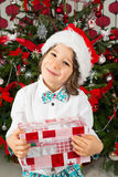 Smiling elegant Christmas boy Royalty Free Stock Photos