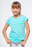Smiling elementary school age girl Royalty Free Stock Photos