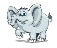 Smiling elephant Stock Photography