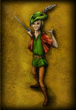 Smiling elf. An elf with rapier, smiling and inviting to try your luck Stock Photography