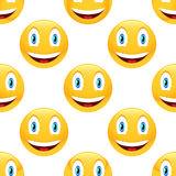 Smiling emoticon pattern Royalty Free Stock Images