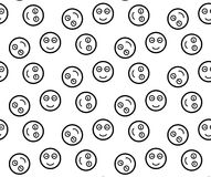 Smiling emoticons. Seamless pattern. Stock Photography