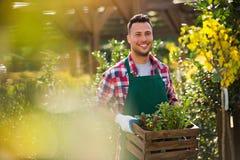 Garden Center Employee Royalty Free Stock Photography