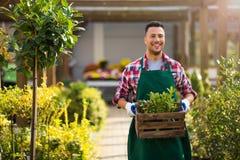 Garden Center Employee Stock Photography