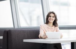 Beautiful business woman in the office. Stock Image