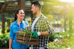 Garden Center Employees Royalty Free Stock Photography