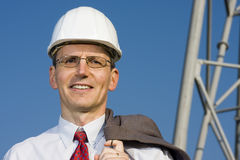Smiling engineer Royalty Free Stock Image
