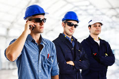 Smiling engineers Royalty Free Stock Photos