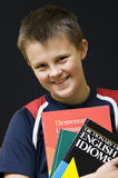 Smiling English student Stock Image