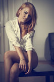 Smiling erotic woman Royalty Free Stock Images