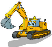 Smiling Excavator Royalty Free Stock Photography