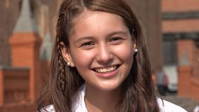 Smiling And Excited Teen Girl Royalty Free Stock Photos