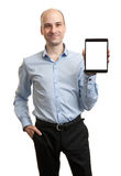 Smiling executive holding a tablet Stock Images