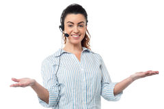 Smiling executive wearing headset Stock Photography