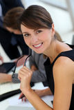 Smiling executive woman Stock Images