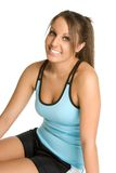Smiling Exercise Girl stock photography