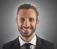 Smiling expression businessman Stock Photo