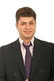 Smiling expressive business man Stock Photos