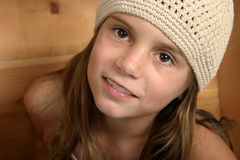 Smiling face. Young girl with smile on face Royalty Free Stock Photos