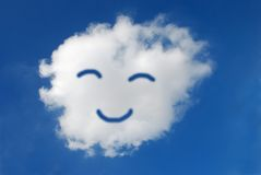 Smiling Face. Created in the cloudscape Stock Photography