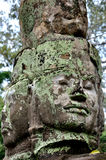 Smiling face in Angkor Wat. Angkor Wat in Siem Reap, Cambodia.Angkor Wat is the largest Hindu temple complex and the largest religious monument in the world Royalty Free Stock Images