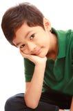 Smiling face Asian boy Stock Photos