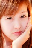 Smiling face of Asian girl Royalty Free Stock Photography