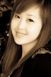 Smiling face of Asian girl Royalty Free Stock Images