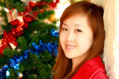 Smiling face of Asian girl Royalty Free Stock Photo