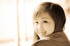 Smiling face of Asian girl Royalty Free Stock Photos