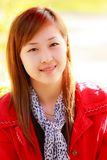 Smiling face of Asian girl Stock Photos
