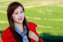 Smiling face of Asian girl Stock Photography