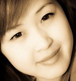 Smiling face of Asian girl Stock Image
