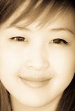 Smiling face of Asian girl Royalty Free Stock Image