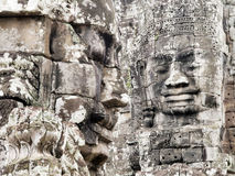Smiling face of Bayon Temple. Famous smiling face at Bayon Temple, Siem Reap, Cambodia Royalty Free Stock Photos