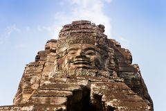 Smiling face at Bayon temple, Cambodia Royalty Free Stock Photos