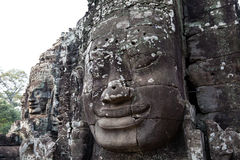 Smiling face at Bayon temple, Cambodia Stock Image