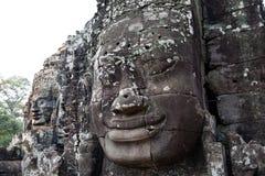 Smiling face at Bayon temple, Cambodia. Huge smiling face at Bayon temple,Angkor Thom, Cambodia Stock Image