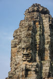 Smiling face decorating the Bayon temple. In the ancient city of Angkor, Cambodia Stock Images