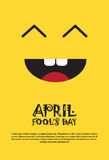 Smiling Face First April Fool Day Happy Holiday Greeting Card. Flat Vector Illustration Royalty Free Stock Images